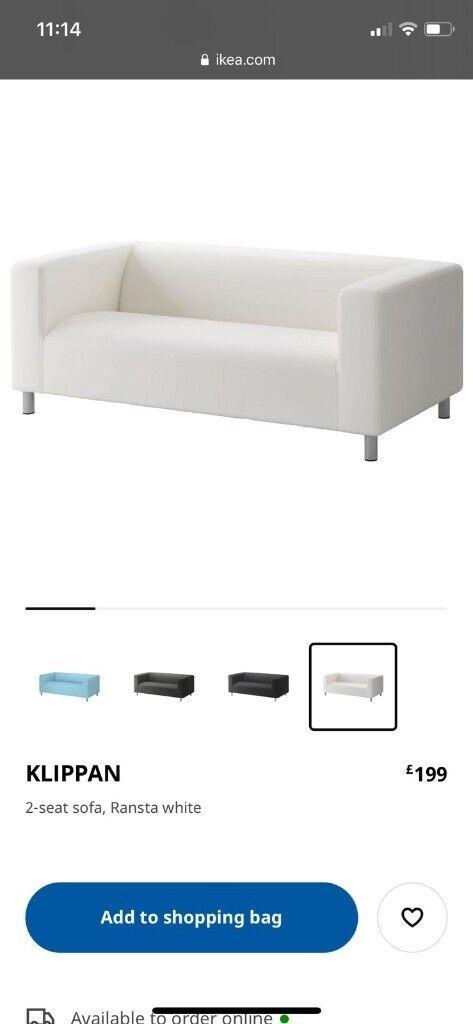 Ikea Klippen White Sofa | In Cwmbran, Torfaen | Gumtree