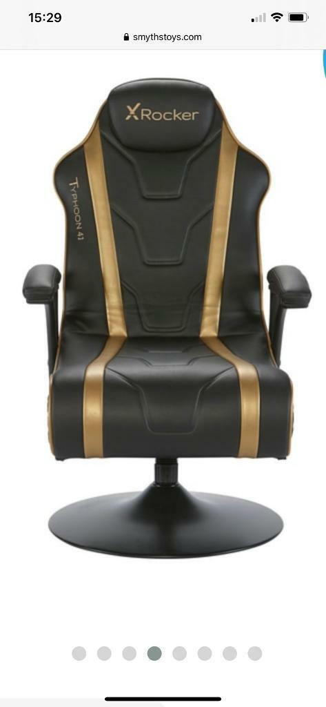 Miraculous Further Reduced Xrocker Typhoon 4 1 Black Gold Gaming Chair In Cardiff Gumtree Uwap Interior Chair Design Uwaporg