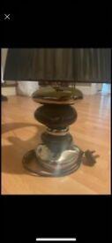 Black pebble lamp
