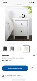 BNIB IKEA Hemnes 2 Drawer bedside table