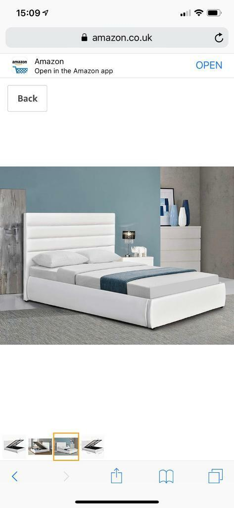 Astounding King Size White Leather Ottoman Bed In Cardenden Fife Gumtree Pdpeps Interior Chair Design Pdpepsorg