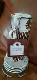 espresso Cups and saucers - never used