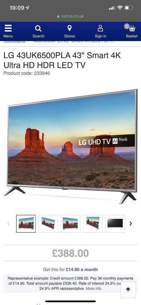 Lg Uhd Tv Ai Thinq 43 43uk6200pla In Buxton Derbyshire Gumtree
