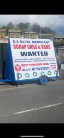 Scrap cars wanted 07794523511 spares or repair cars West Yorkshire area
