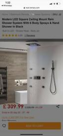 LED shower system