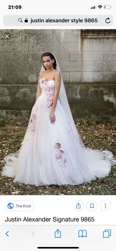 Justin Alexander blush ball gown | in Bootle, Merseyside | Gumtree