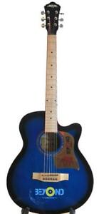 Acoustic Guitar 40 inch for Beginners Blue Unique style iMusic224 iMusicGuitar