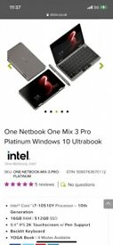 """SAVE £570,FEW WEEK OLD,ONE NOTEBOOK ONE MIX 3 PRO PLATINUM WIN 10 ULTRABOOK 8.4"""" LAPTOP,I7 10TH GEN"""