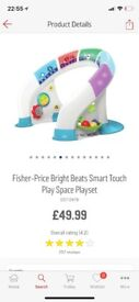 Fisher price bright beats smart touch space play set