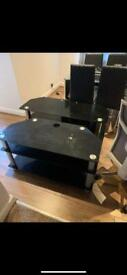 2 TV stands FREE TO ANYONE WHO CAN COLLECT