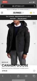Men's brand new down hooded parka Canada goose