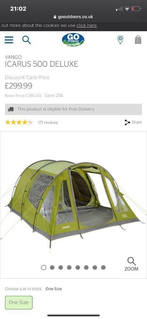Vango tent and footprint icarus 500 | in Paisley ...