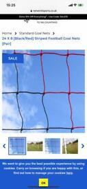 RED & BLACK FOOTBALL GOAL NETS