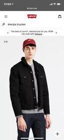 5XL Men's Levi's Black Denim Sherpa Jacket. New