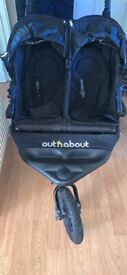Out n about nipper double pram pushchair