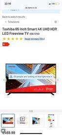 "TOSHIBA 65"" TV"