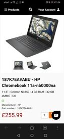 Hp laptop chromebook 11a, brand new in box unopened