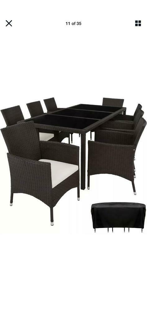 Rattan table and chairs 8 seater | in Nottingham ...