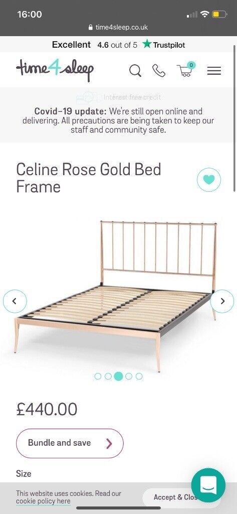 Rose Gold King Size Bed Frame In Peterhead Aberdeenshire Gumtree