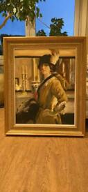 1920's Lady Oil Painting