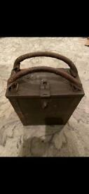 Military Breda wooden box with metal inserts