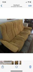 Ekornes Stressless 3 Seater Fabric Settee