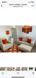 DFS Sofa chair and foot stool new