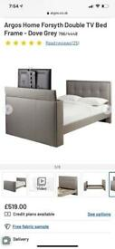 Grey Double TV Bed