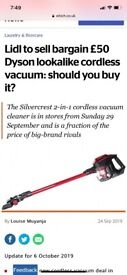 Silver crest lidl cordless vacuum cleaner hoover