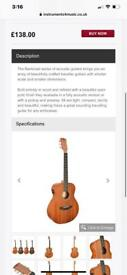 Soundsation back road acoustic electric guitar