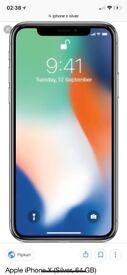 iPhone X 64gb silver o2