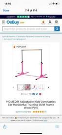 Pink gymnastic bar