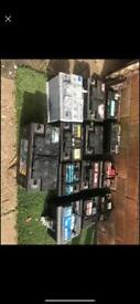 Car batteries wanted cash paid