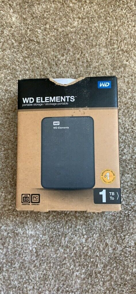 WD Elements 1Tb external HDD | in Paignton, Devon | Gumtree