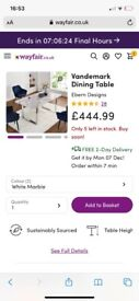 Marble dinning table wayfair brand new