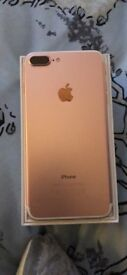 iPhone 7 Plus Rose Gold 32gb in box immaculate condition