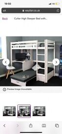 Bunk bed/ high sleeper for sale. WILL ACCEPT OFFERS need gone! Free mattress&chair available too
