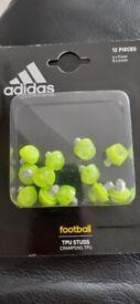 Genuine ADIDAS STUDS FOOTBALL - SET of 12 - 4 x 9mm, 8 x 6mm - SG REPLACEMENT - LAST BOX!!