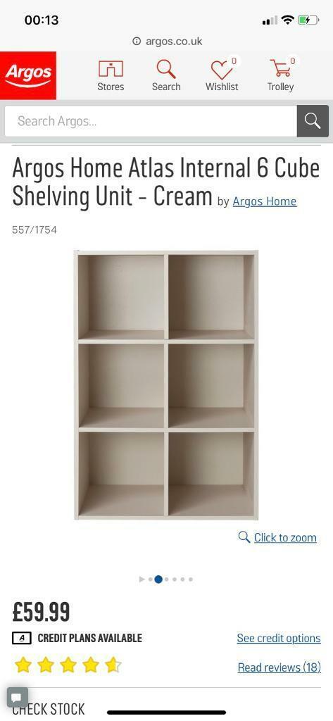 online store 51365 b6235 Argos Atlas Internal Shelving Storage Cubes - Accepting offers | in  Leamington Spa, Warwickshire | Gumtree
