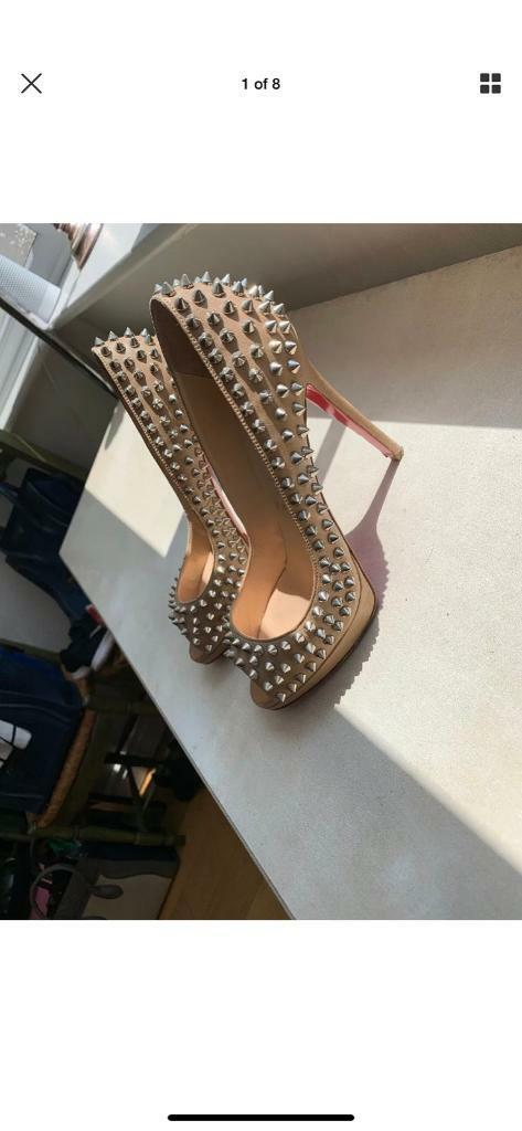 new product 952cd a1480 Louboutin nude spike heels size 4.5   in Poulton-le-Fylde, Lancashire    Gumtree