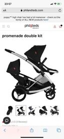 Phil and Ted Promenade Double Twin buggy