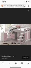 Childs single mid sleeper Bed