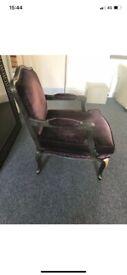 Boutique Armchair Purple Velvet (Vintage) *RARE*