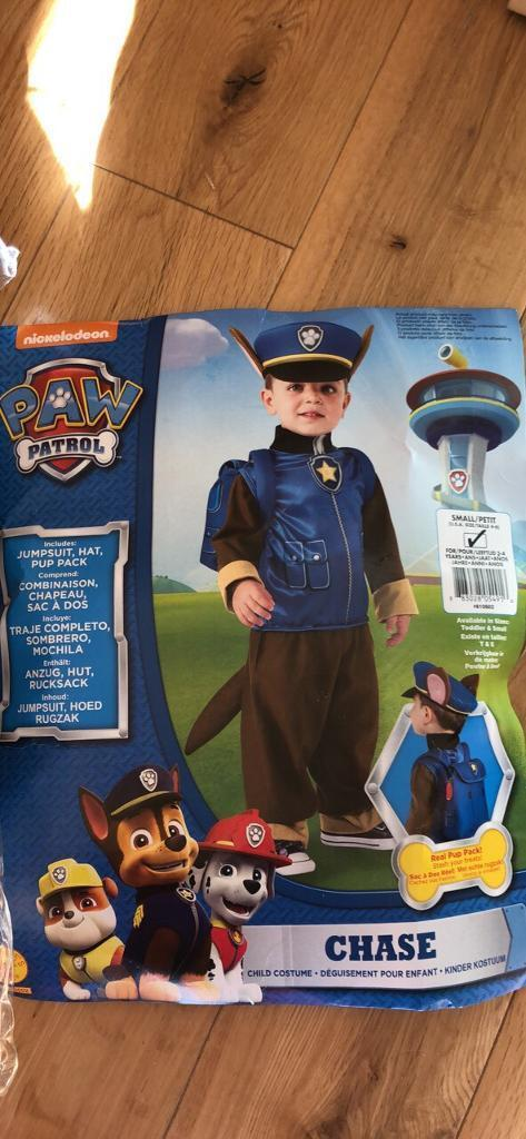 paw patrol chase halloween costume age 3 4
