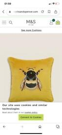 Wanted M&S velvet bee cushions