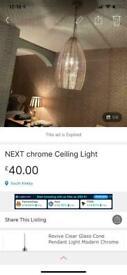 NEXT chrome hanging light