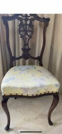 Elegant mahogany chair