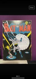 Batman comic poster (metal)