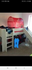 Steen Mid sleeper bed with Slide