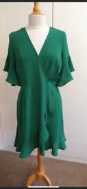 Green Frill Dress - All Sizes Available. £10 each or £300 for 50 Across a Range of Sizes